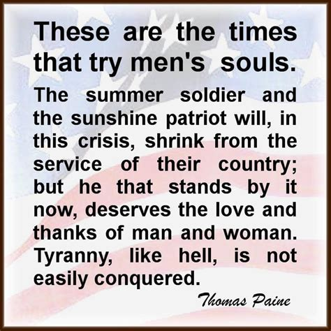 These Are The Times That Try Men's Souls Trump Country 1