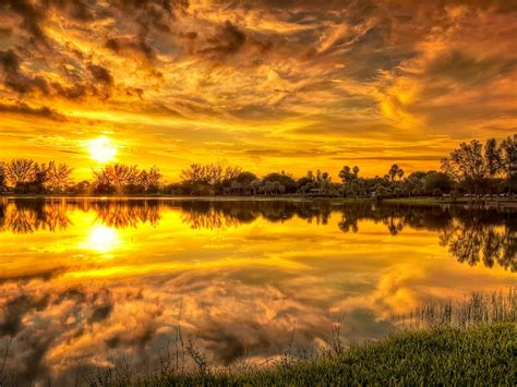 lovely sunset stream beautiful hd wallpapers