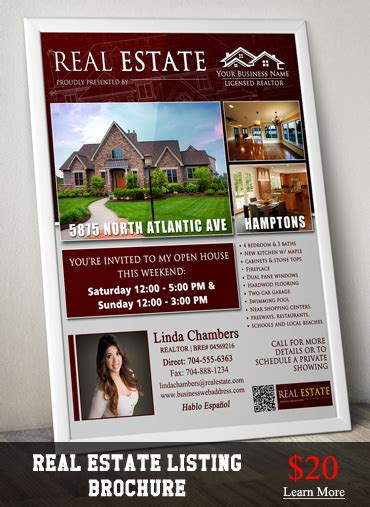 Real Estate Listing Brochure Template by Cakes Stuff Cake Flyer Template