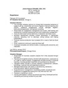 cfo bullet points on resume