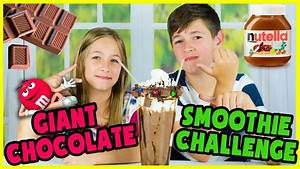 GIANT EXTREME CHOCOLATE SMOOTHIE CHALLENGE!   Doovi