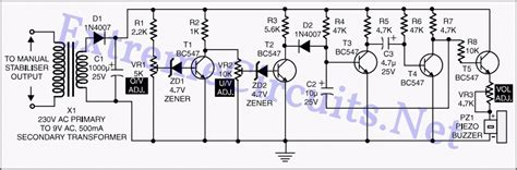 Under Over Voltage Beep For Manual Stabilizer Eeweb