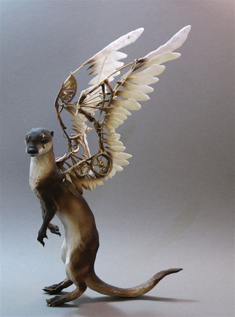 surreal hybrid animal sculptures  ellen jewett favbulous