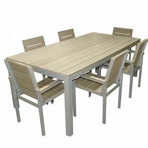 Table De Jardin En Bois Pas Cher : table de jardin plastique imitation bois ~ Teatrodelosmanantiales.com Idées de Décoration
