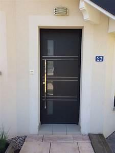 Portes d39entree aluminium k line menuiserie alu pvc bois for K line porte d entrée