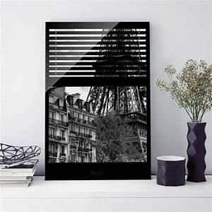Glasbild Schwarz Weiß : glasbild fensterausblick paris nahe am eiffelturm ~ A.2002-acura-tl-radio.info Haus und Dekorationen
