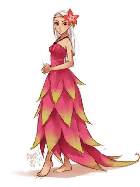 dragonfruit fullbody jaw dropping dress anime food