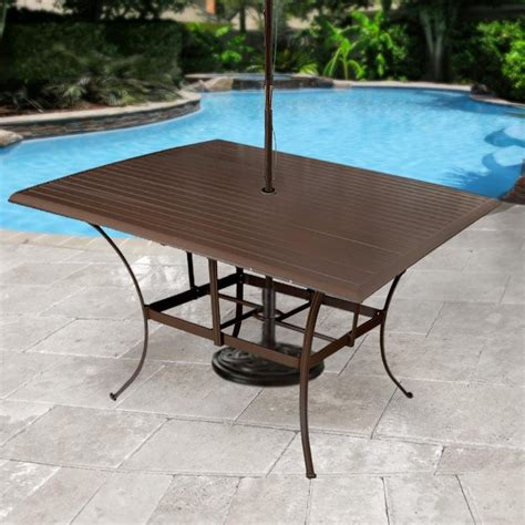 patio dining table panama outdoor island slatted