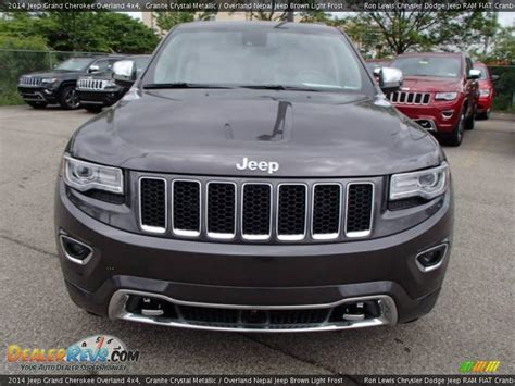 light brown jeep 2014 jeep grand cherokee overland 4x4 granite crystal