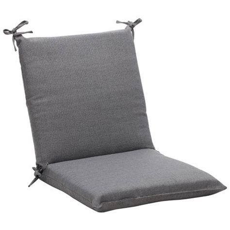 outdoor gray textured solid chair cushion squared pillow