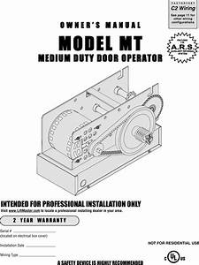 Liftmaster Mt5011 Owners Manual 01 10332m