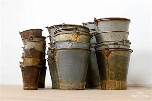 Reclaimed, Rustic, Galvanized, Buckets