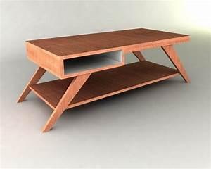 Retro Modern Eames-style Coffee Table Furniture Plan