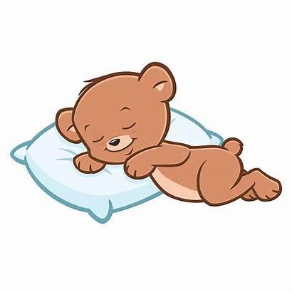 Sleeping Bear Teddy Cartoon Clipart Vector Clip