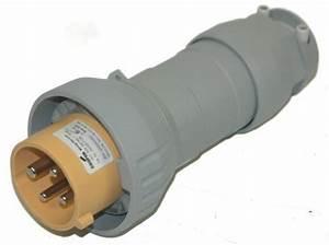 Cooper Nylon Plug External Cable Grip 20a 3 Pole 4 Wire