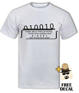 binary t shirt computer science coding clever cool nerdy ebay