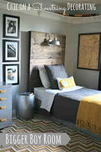 boy bedroom ideas chic on a shoestring decorating bigger boy room reveal