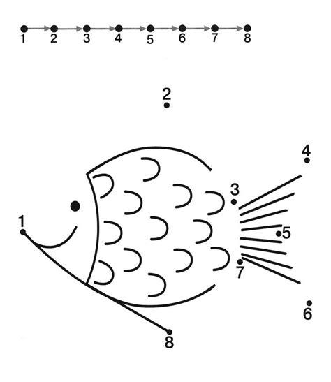dot to dot worksheets for preschoolers dot to dot printables for kindergarten fish dot worksheets 316