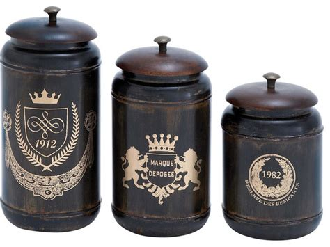 kitchen canisters and jars benzara 38121 canisters with cylindrical jars and matching