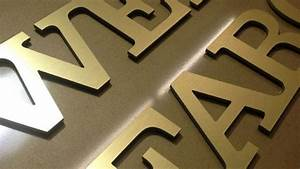 cnc router cut letters with chemetal laminated face sides With router cut letters