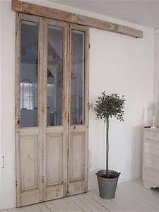 deco recup 6 facons de creer une cloison coulissante With realiser une porte en bois