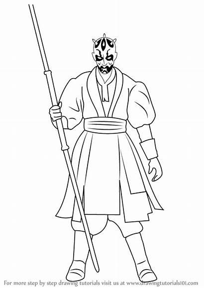Darth Maul Wars Star Draw Drawing Step