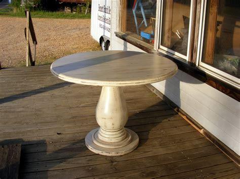 unfinished wood pedestal table base bobreuterstlcom