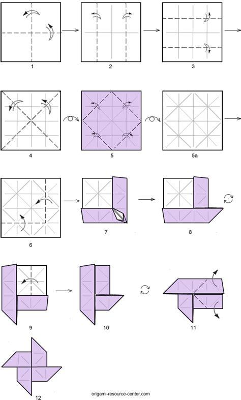 origami windmill base