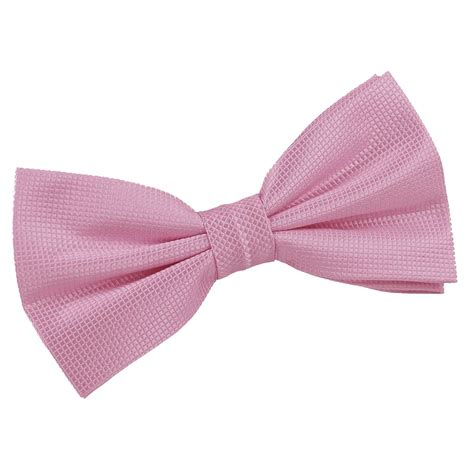 Light Pink Bow Tie by Light Pink Solid Check Pre Thistle Bow Tie