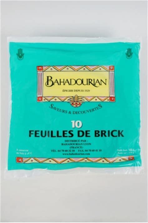 cuisiner la feuille de brick feuilles de brick bahadourian feuilles de brick paquet