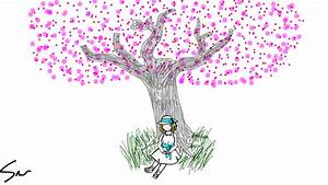 Cherry Blossom Tree Drawing Step By Step At Getdrawings