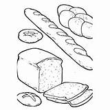 Bread Coloring Pages Grain Drawing Flour Grains Loaf Bakery Baker Different Printable Yummy Clipart Slice Getcolorings Getdrawings Drawings Results 230px sketch template