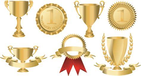 trophy cup  medals vector set  vector sport