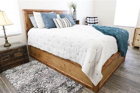 build  queen size storage bed addicted  diy