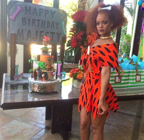 Rihanna Attends Flintstonesthemed Birthday Party Vibe