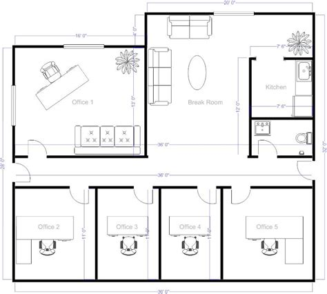 office layout exles simple floor plans on free office layout software with Executive
