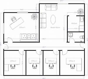 Simple Floor Plans On Free Office Layout Software With