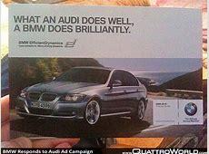 BMW responds to Audi's latest ad campaign QuattroWorld
