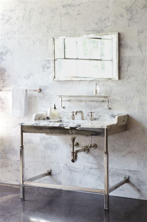 roman  williams waterworks bathroom vanity design