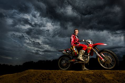 Shooting Motocross At A Dirt Track
