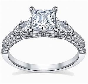 Glamorous Antique Engagement Ring 1.00 Carat Princess Cut ...