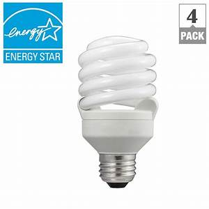Philips 75w equivalent soft white t2 spiral cfl light bulb for T lamp light bulbs