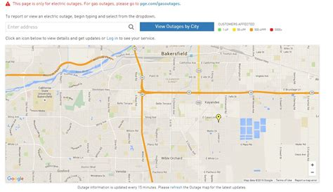 pge reports power outages  kern county kbak