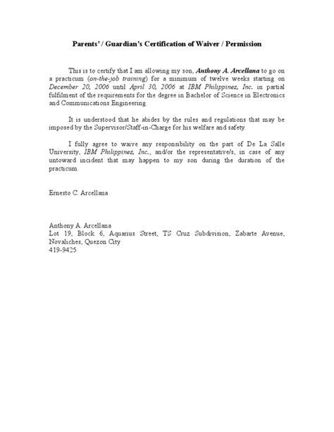exle of application letter for ojt bsba parent s