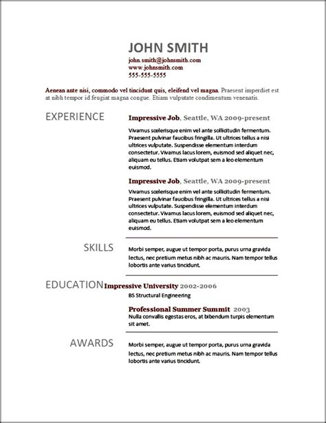Modern Resume Templates  Free Samples , Examples & Format
