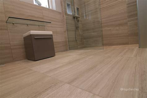 curbless limestone shower c 233 ramiques hugo inc