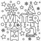 Coloring Winter Pages Preschool Printable Sheets Rocks sketch template