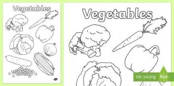 Vegetables, Colouring, Poster