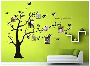 Baum An Wand Malen : gro bilderrahmen baum wandtattoo fotorahmen wandaufkleber 170x210cm fwt04h ebay ~ Frokenaadalensverden.com Haus und Dekorationen