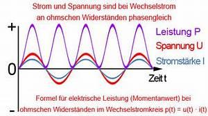 Elektrische Leistung Berechnen : leistung bei wechselstrom phasenverschiebung scheinleistung blindleistung wirkleistung ~ Themetempest.com Abrechnung